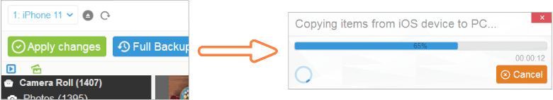 transfer photos to PC with CopyTrans Photo