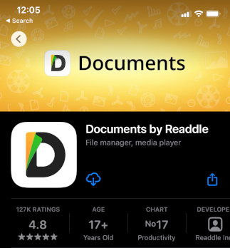 Free file manager for iPhone