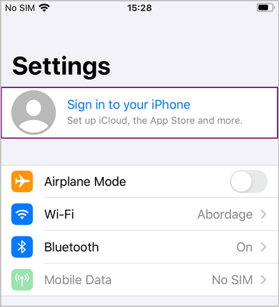 log in to iCloud with iOS 10 and above