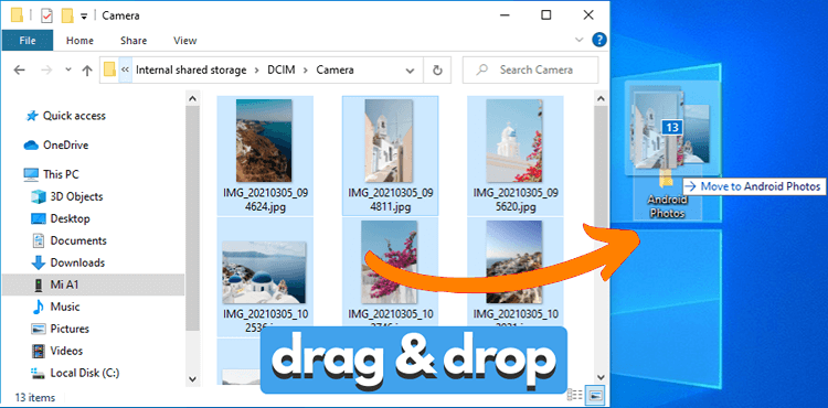 Transferring Android photos to PC